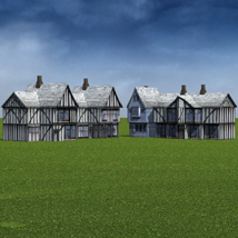 Low Polygon Medieval Buildings 3 (for DAZ Studio) image 1