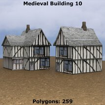 Low Polygon Medieval Buildings 3 (for DAZ Studio) image 3