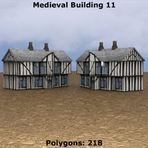 Low Polygon Medieval Buildings 3 (for DAZ Studio) image 4
