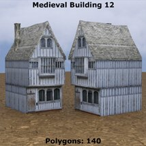 Low Polygon Medieval Buildings 3 (for DAZ Studio) image 5