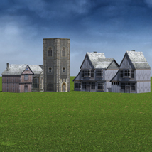 Low Polygon Medieval Buildings 4 (for DAZ Studio) image 1