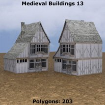 Low Polygon Medieval Buildings 4 (for DAZ Studio) image 2