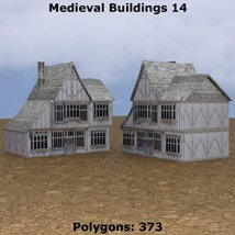 Low Polygon Medieval Buildings 4 (for DAZ Studio) image 3