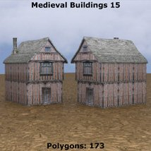 Low Polygon Medieval Buildings 4 (for DAZ Studio) image 4
