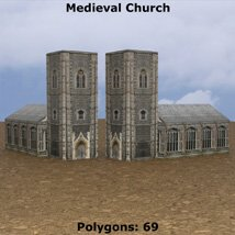 Low Polygon Medieval Buildings 4 (for DAZ Studio) image 5