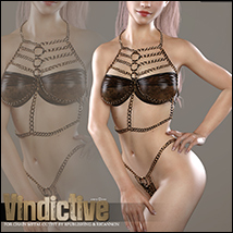 Vindictive for Chain Metal Outfit G3F image 1