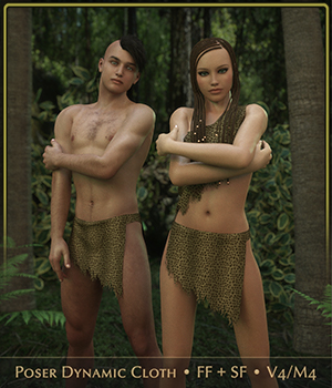 FRQ Dynamics: Jungle Fever Male And Female 3D Figure Assets Frequency