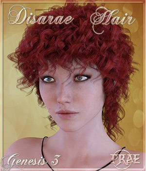 Prae-Disarae Hair For Genesis 3 3D Figure Assets prae