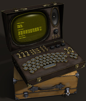 Steampunk Laptop by coflek-gnorg