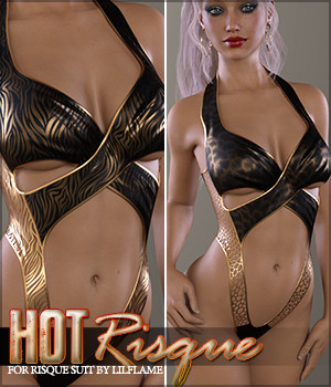 Hot Risque Suit 3D Figure Assets Sveva