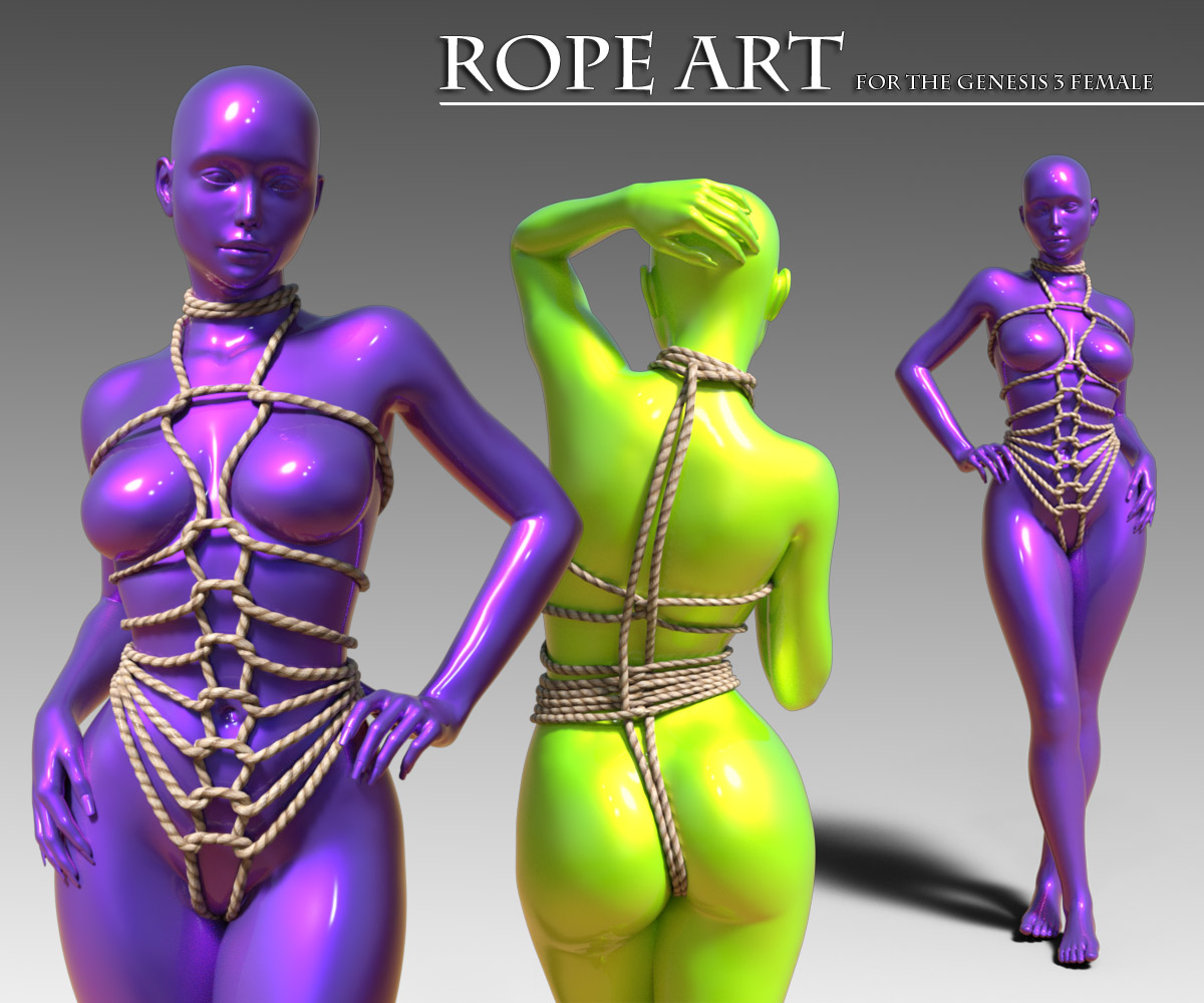 Rope Art Outfit for G3F