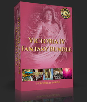 Victoria IV FANTASY BUNDLE 3D Figure Assets powerage