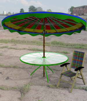 Patio Set FBX OBJ  3D Models uncle808us