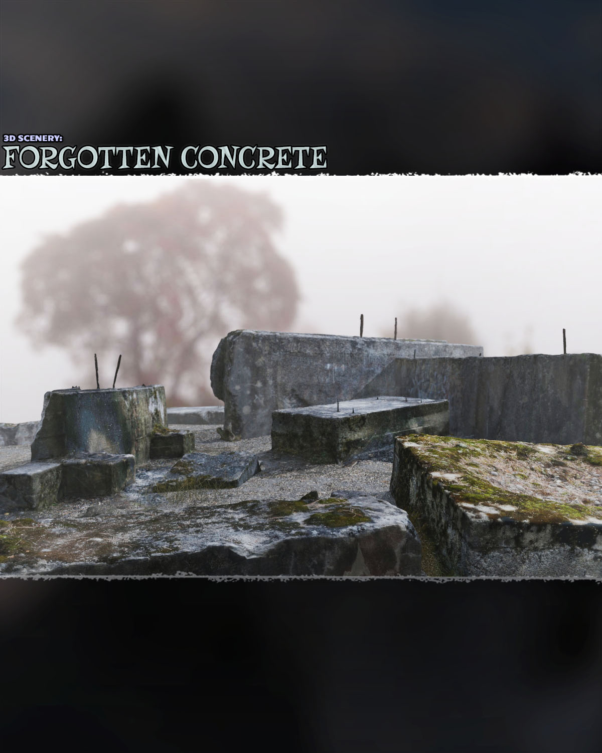 3d Scenery: Forgotten Concrete - Extended License