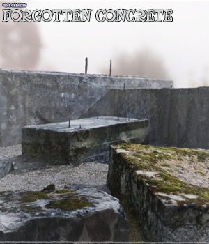 3d Scenery: Forgotten Concrete - Extended License 3D Models Gaming Extended Licenses ShaaraMuse3D