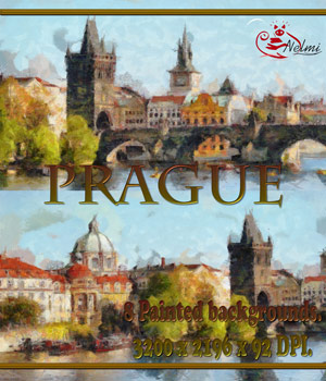8 Prague Painted Backdrops 2D nelmi