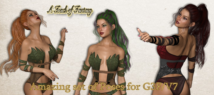 A Touch of Fantasy Poses for G3F / V7