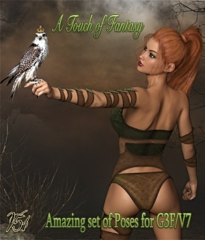 A Touch of Fantasy Poses for G3F / V7 3D Figure Essentials vanda51