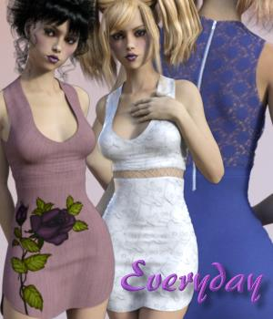 Everyday for Poudre Dress by outoftouch 3D Figure Assets chasmata