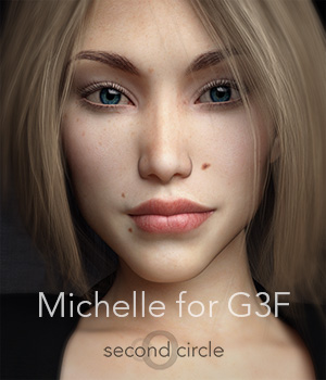 Michelle for Genesis 3 Female 3D Figure Assets secondcircle