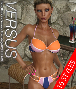 VERSUS - Blaze Bikini for Genesis 3 Female(s) 3D Figure Essentials Anagord