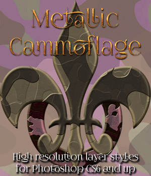Metallic Cammoflage Styles 2D Graphics antje