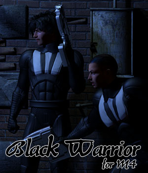 Black Warrior for M4 3D Figure Assets JerryJang