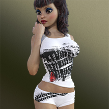 Top & Shorts for Genesis 3 Female(s) image 1