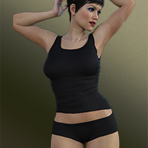 Top & Shorts for Genesis 3 Female(s) image 3
