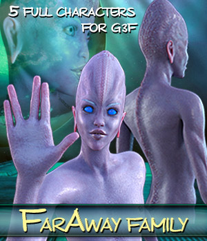 FARAWAY FAMILY for Genesis 3 Female(s) 3D Figure Essentials Mar3D