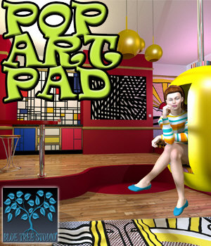 Pop Art Pad 3D Models BlueTreeStudio