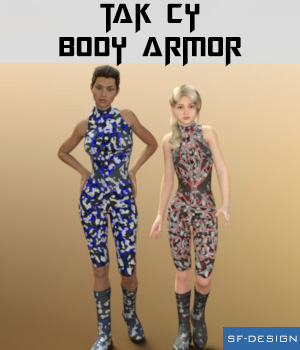 Tak Cy - Body Armor for Genesis 2 and 3 Females 3D Figure Assets SF-Design