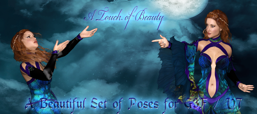 A Touch of Beauty Poses for G3F/V7