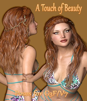 A Touch of Beauty Poses for G3F/V7 3D Figure Essentials vanda51
