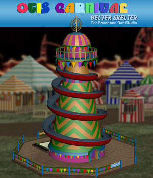 Otis Carnival Fun Fair Helter Skelter 3D Models Simon-3D