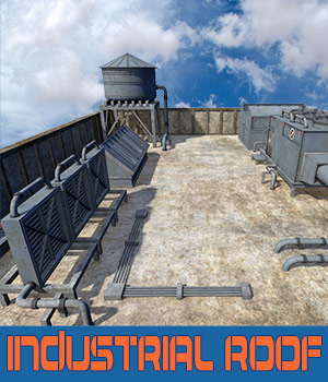 Industrial roof 3D Models 1971s
