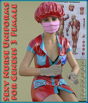 Sexy Nurse Uniform for Genesis 3 Female(s) 3D Figure Essentials sparkman