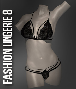 Fashion Lingerie 8 for G3F 3D Figure Assets xtrart-3d