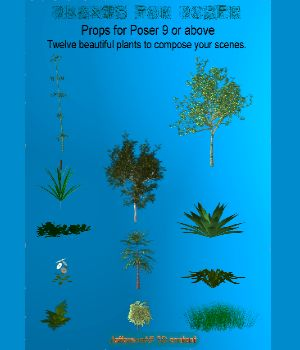Plants for Poser 3D Models JeffersonAF