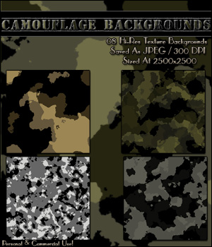 Camouflage Backgrounds! 2D Merchant Resources OriginalDoll84