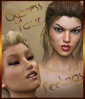 Express Your Feelings - Expressions for G3F 3D Figure Essentials Software ilona