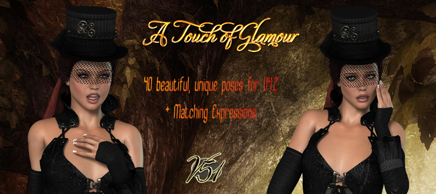 A Touch of Glamour Poses and Expressions for V4