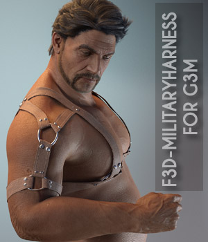 F3D-MilitaryHarness for G3M 3D Figure Assets Fashionista3D