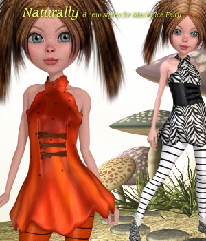 Naturally for Mavka Ice Fairy 3D Figure Assets JudibugDesigns