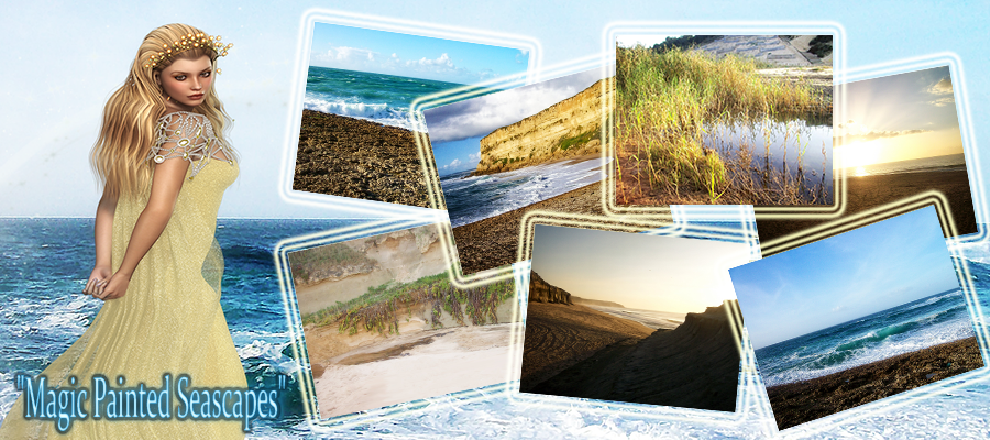Magic Painted Seascapes- Backgrounds