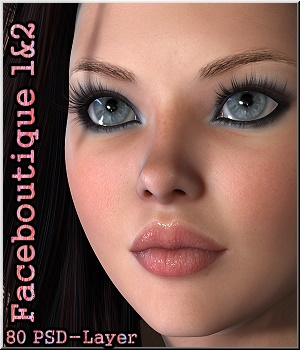 Faceboutique 1& 2 -EYEBROWS BUNDLE Merchant Resources 2D Graphics LUNA3D