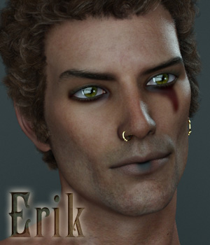 Erik for Genesis 3 Male 3D Figure Assets Anain