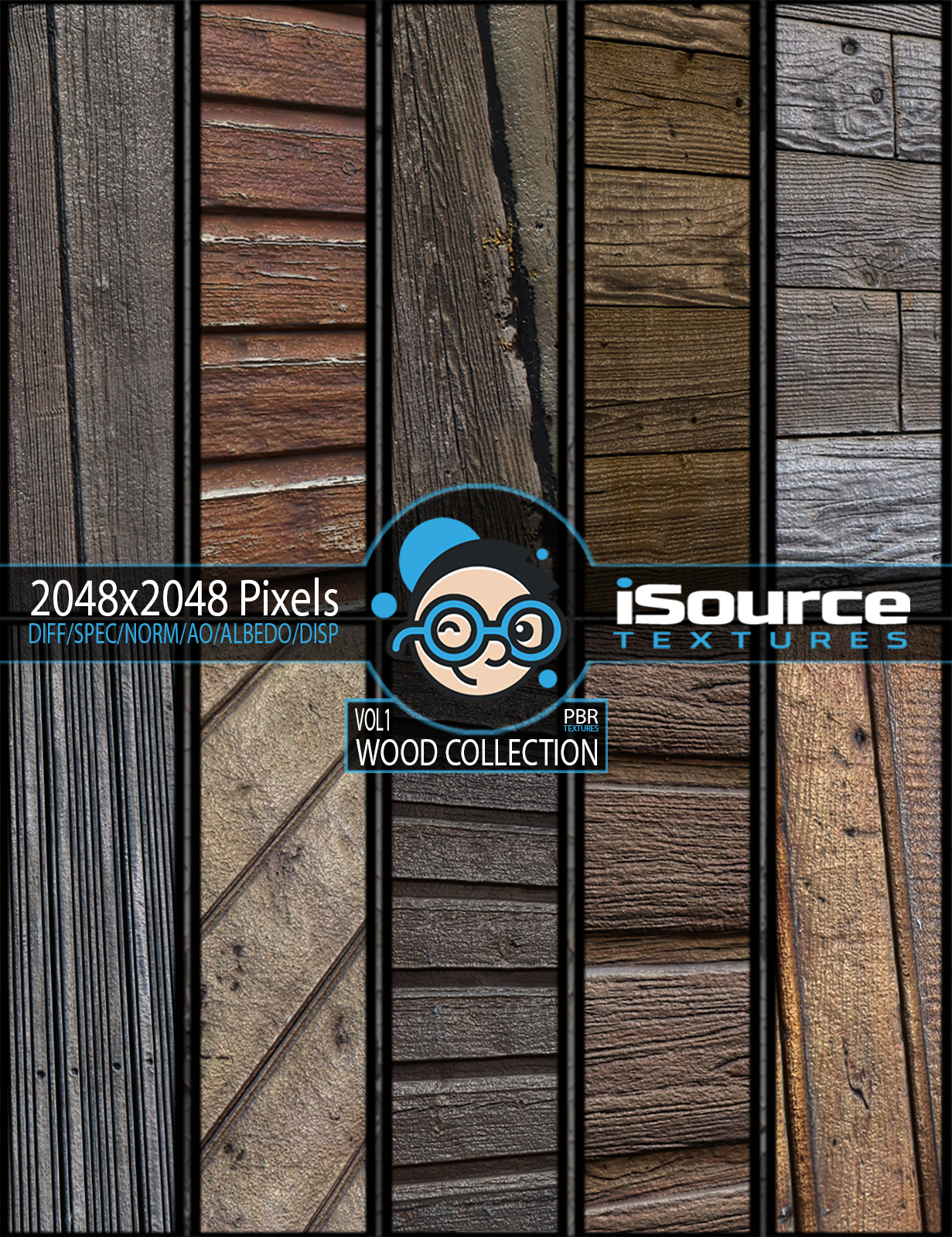 Wood Collection - Vol1 (PBR Textures) by KobaAlexander