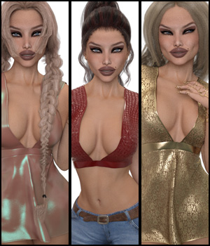 VERSUS - Fashion Blizz Flowy Sheer Top for Genesis 3 Female(s) 3D Figure Essentials Anagord