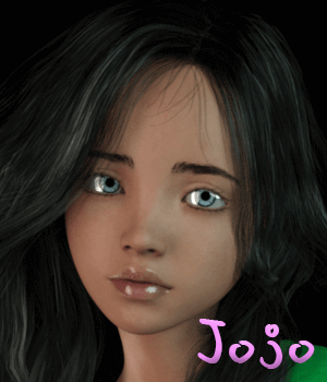 Jojo for G3F 3D Figure Essentials AliveSheCried